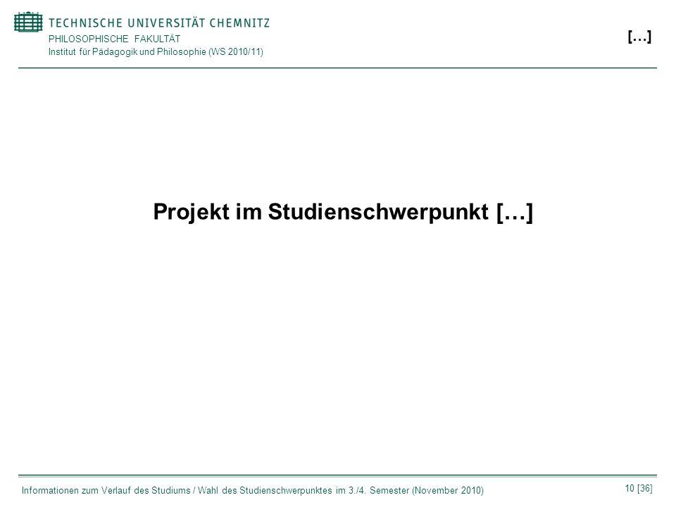 Projekt im Studienschwerpunkt […]